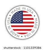 made in usa flag icon.   Shutterstock .eps vector #1101339386