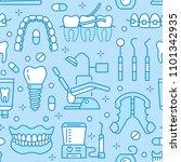 dentist  orthodontics blue... | Shutterstock .eps vector #1101342935