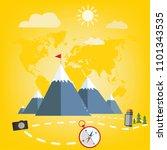 world tourism. travel around... | Shutterstock .eps vector #1101343535