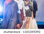 fashion show  catwalk event ... | Shutterstock . vector #1101345392