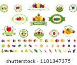 set of fruit and vegetables... | Shutterstock .eps vector #1101347375