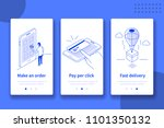 online shop website or mobile... | Shutterstock .eps vector #1101350132
