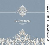 save the date invitation card... | Shutterstock .eps vector #1101352958