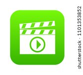 clapperboard for movie shooting ... | Shutterstock .eps vector #1101353852