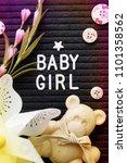 baby girl background      ... | Shutterstock . vector #1101358562