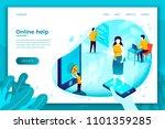vector concept illustration   ... | Shutterstock .eps vector #1101359285