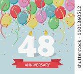 48 years selebration. happy... | Shutterstock .eps vector #1101360512
