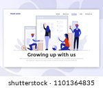 landing page template of... | Shutterstock .eps vector #1101364835