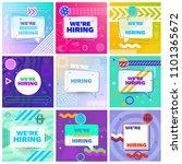 we are hiring template  banner... | Shutterstock .eps vector #1101365672