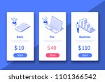 pricing table website or mobile ... | Shutterstock .eps vector #1101366542