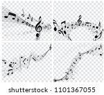 musical designs with elements... | Shutterstock .eps vector #1101367055