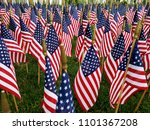 a sea of american flags ...   Shutterstock . vector #1101367208