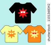 t shirt template  model with... | Shutterstock .eps vector #1101368342