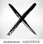 grunge x mark.vector letter x. | Shutterstock .eps vector #1101373715