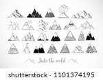 set of hand drawn doodle sketch ... | Shutterstock .eps vector #1101374195
