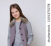 lovely portrait of european... | Shutterstock . vector #1101375278