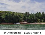 pictured rocks national park on ... | Shutterstock . vector #1101375845
