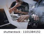 machine learning technology... | Shutterstock . vector #1101384152