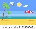 tropical island seashore hot... | Shutterstock .eps vector #1101386342