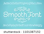 cool vector font set with tiny... | Shutterstock .eps vector #1101387152