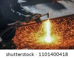 welding  or gas welding in the... | Shutterstock . vector #1101400418