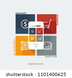 payment system mobile interface.... | Shutterstock .eps vector #1101400625