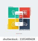 smart home mobile interface.... | Shutterstock .eps vector #1101400628
