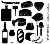 vector cheese set icons with... | Shutterstock .eps vector #1101402212