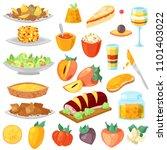 persimmon vector fresh fruity... | Shutterstock .eps vector #1101403022