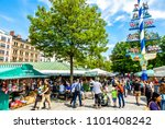 munich  germany   may 22  view... | Shutterstock . vector #1101408242