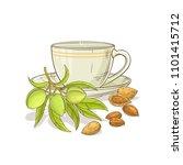 almond tea illustration | Shutterstock .eps vector #1101415712