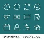 set shopping cart money dollar...   Shutterstock .eps vector #1101416732