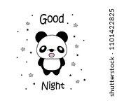 sweet dreams panda vector... | Shutterstock .eps vector #1101422825