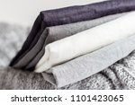 Linen Textiles On The Basket ...