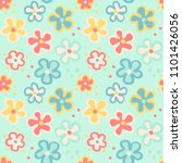 seamless pattern with cute... | Shutterstock .eps vector #1101426056
