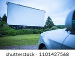blank drive in movie screen ... | Shutterstock . vector #1101427568