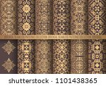 vector arabesque patterns.... | Shutterstock .eps vector #1101438365