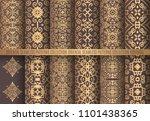 vector arabesque patterns.... | Shutterstock .eps vector #1101438365