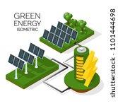 a set of alternative energy... | Shutterstock .eps vector #1101444698