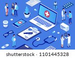 doctor and patients concept... | Shutterstock .eps vector #1101445328