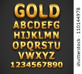 golden vector font | Shutterstock .eps vector #110144978