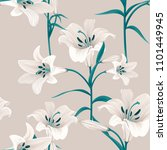 seamless pattern with white... | Shutterstock .eps vector #1101449945
