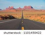 forrest gump point  utah  usa | Shutterstock . vector #1101450422