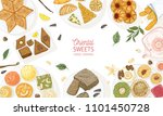 horizontal banner template with ... | Shutterstock .eps vector #1101450728