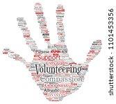 vector conceptual volunteering  ... | Shutterstock .eps vector #1101453356