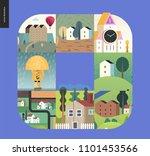simple things   houses   flat...   Shutterstock .eps vector #1101453566