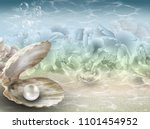 Pearl Background With Single...