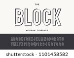 block modern typeface. alphabet ... | Shutterstock .eps vector #1101458582