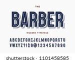 barber font. alphabet modern... | Shutterstock .eps vector #1101458585