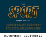 vector sport modern typeface... | Shutterstock .eps vector #1101458612